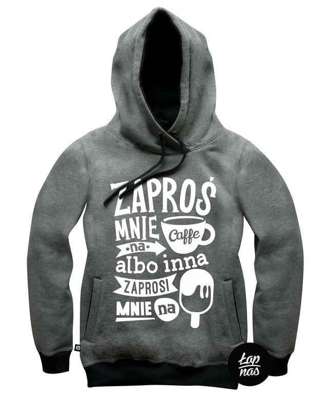 Bluza Kawa czy Lody ? Grafit( Męska) - LAP-NAS - Bluzy z kapturem męskie