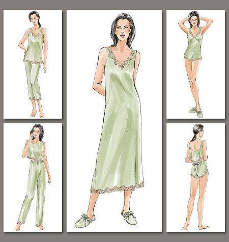 VOGUE 7837 Misses/Misses Petite Lingerie by DesignRewindFashions, $12.00