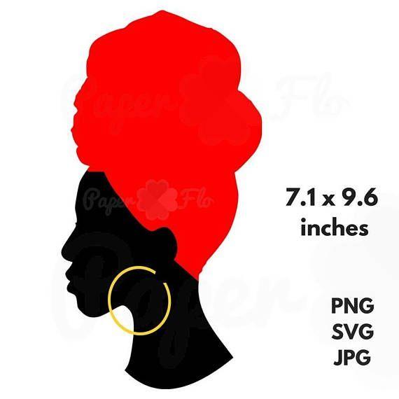 Download headwrap SVG Silhouette clip art black woman head wrap jpg ...
