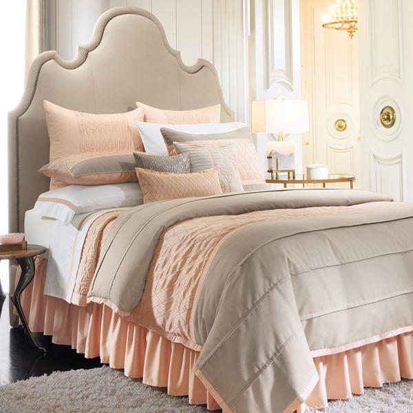 Peach & Tan Bedding Set