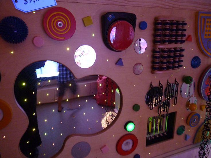 I think I need some lights for my sensory wall- this looks so beautiful!  Sensory Room - Henbury School