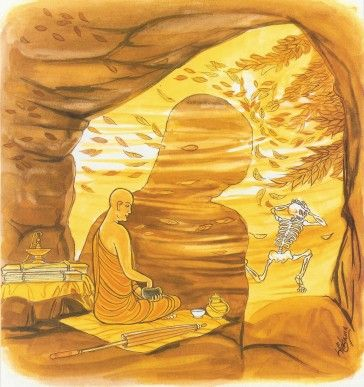 Spiritual strength is unbeatable 008. He who dwells in the unattractive of the senses, whose powers are well under control, who knows moderation in food, who is confident, who is energetic; if someone throws Mara not down as the wind does not overthrow a large rock.