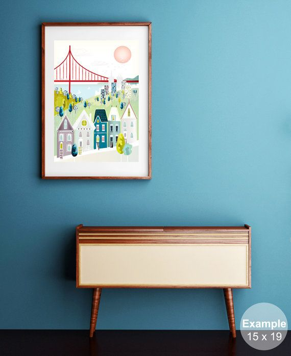 San Francisco Print, Golden Gate Bridge Large Wall Art, Hipster Poster, Cityscape Poster, Home decor, Wall Decor, Gift.