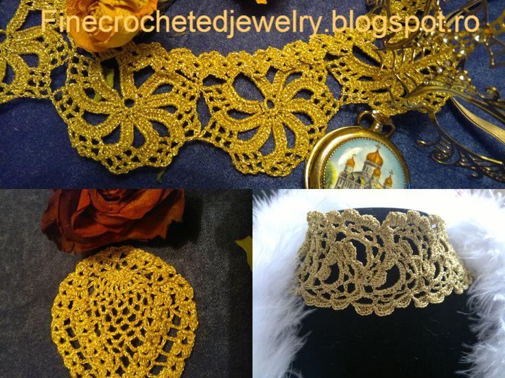 Crochet collar