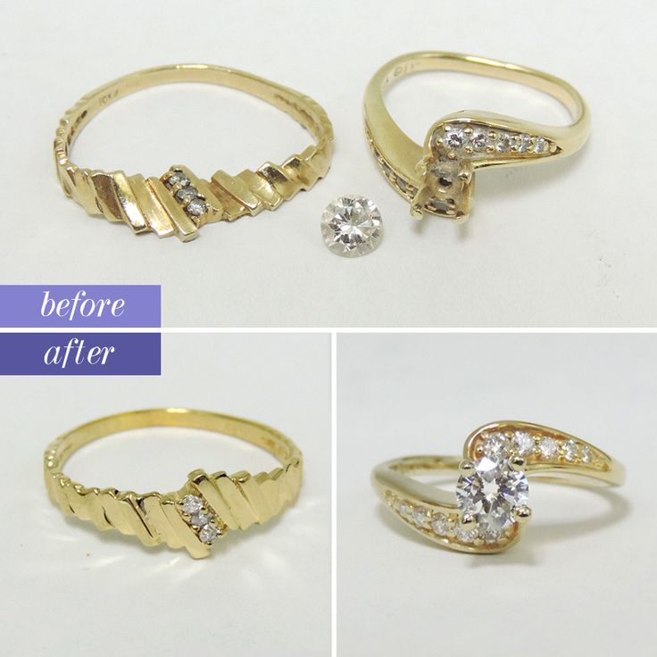 Amazing One ring got stepped on the other lost the center stone Both rings are repaired and look better than new