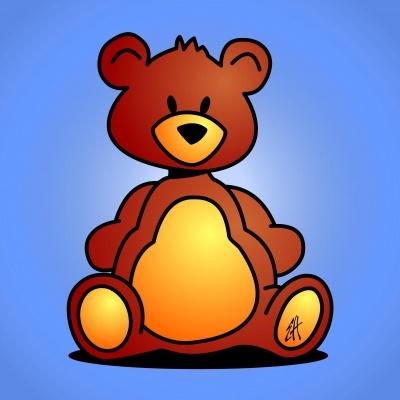 Teddybeer voor een baby jongetje (© Ernest van Hout, Cardvibes.com - Tekenaartje.nl) #Sendasmile