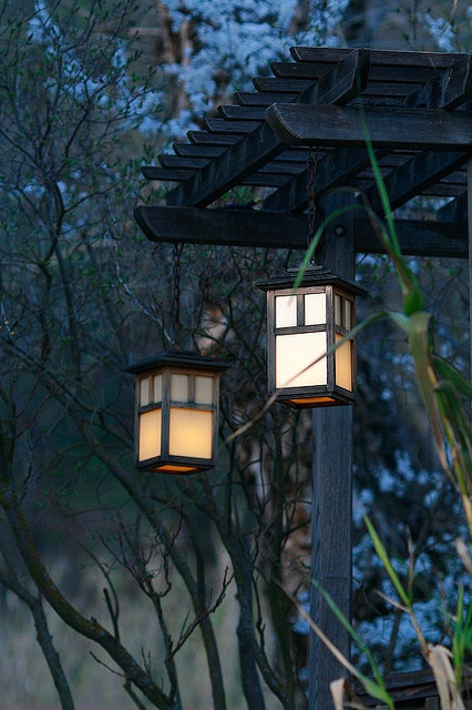solar powered lanterns at wilbur hot springs - Solar Powered Lanterns