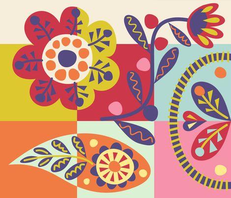 Spring Flowers fabric by yellowstudio on Spoonflower - custom fabric