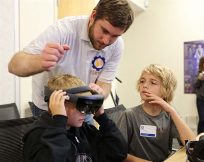 Children learn about virtual reality and  brain-controlled prosthetic devices with US Military  https://www.defense.gov/News/Article/Article/1226204/military-children-use-virtual-reality-simulators-at-stem-workshop/?utm_campaign=crowdfire&utm_content=crowdfire&utm_medium=social&utm_source=pinterest