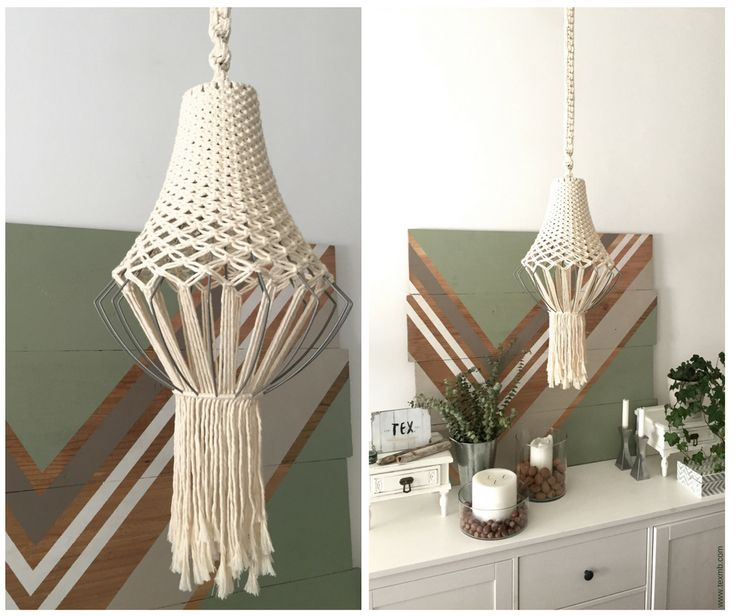 Macrame chandelier by TEX MB.