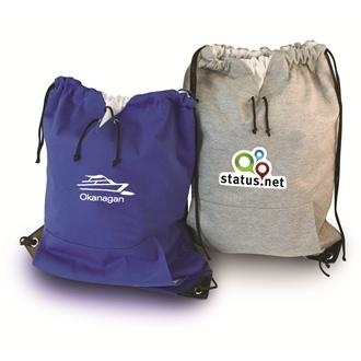 Show your team spirit and carry gear in this insulated cooler backpack. This bag can keep your lunch hot or cool for 4-6 hours! Our jersey style sweatshirt drawstring backpacks are a great addition for any team. Waterproof. $5.99