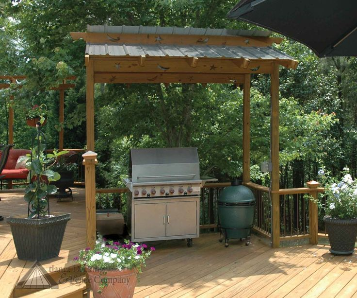 17 best images about bbq overhangs protect your chef on for Outdoor kitchen roof structures