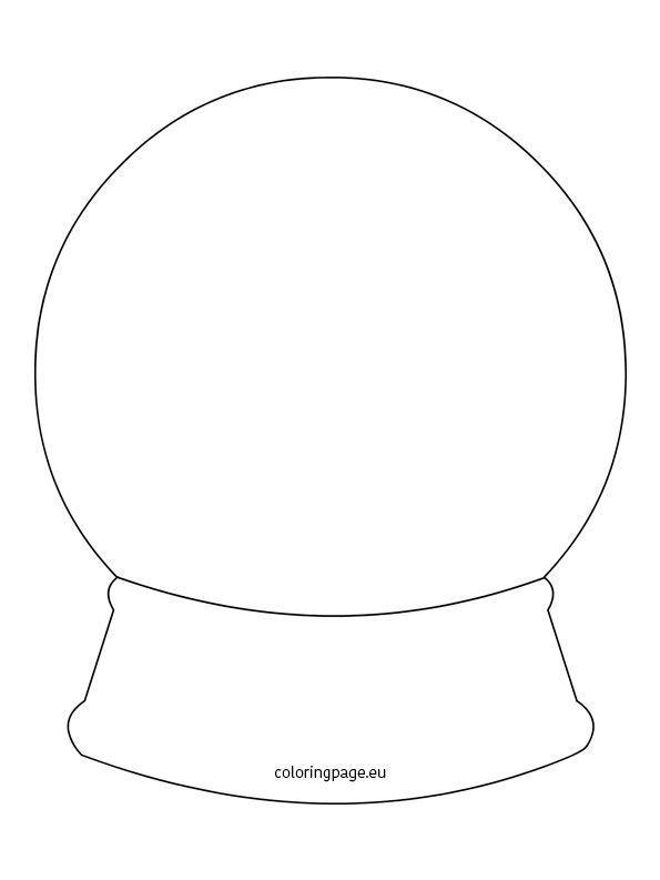 Snow Globe Template Printable Christmas Globes Snow Globes Winter Snow Globe