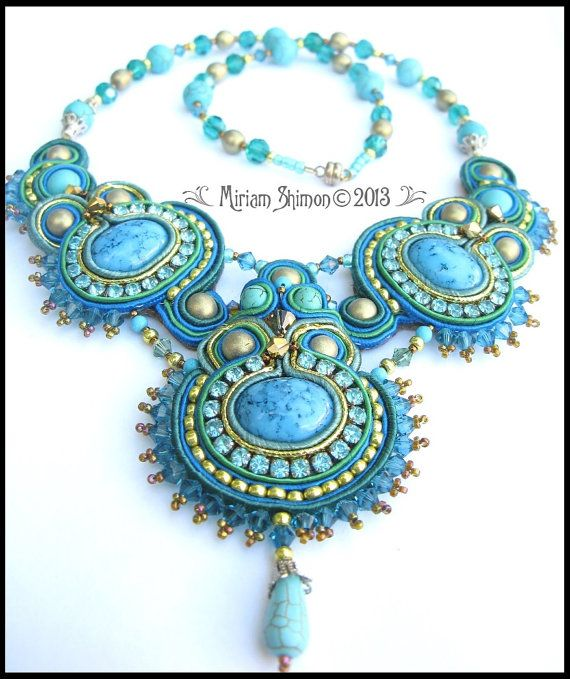 Turquoise necklace by MiriamShimon