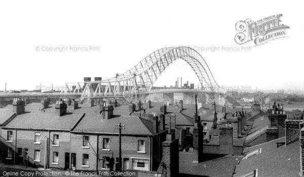 Widnes, Runcorn Bridge c.1965, from Francis Frith