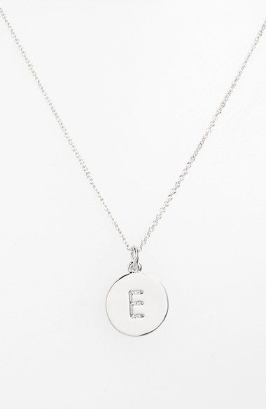 I want both the silver and the gold version! - kate spade new york 'one in a million' initial pendant necklace available at #Nordstrom