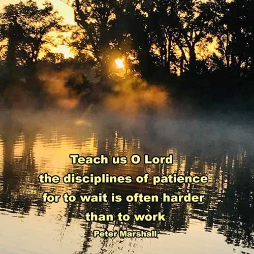 Wait patiently for the LORD  Be brave and courageous  Yes