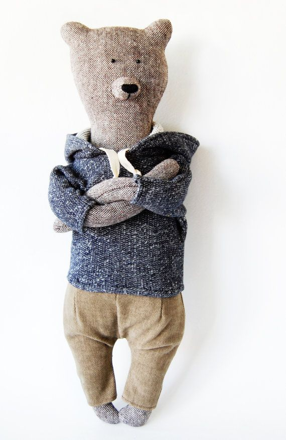 Jacob by Philomena Kloss. The Bear was made by hand. Materials - tweed, cotton, jersey. Size Bears - 42 cm