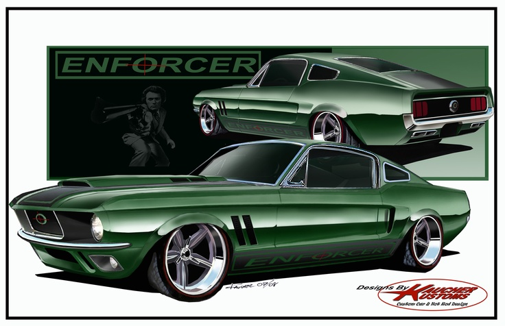 The design of one of my clients Mustang that was stopped after the economy crash of 2008