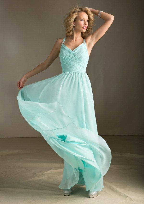 bridesmaid dress in this COLOR!!!!!! Style # 204120 Mint Green, Angelina Faccenda- the designer