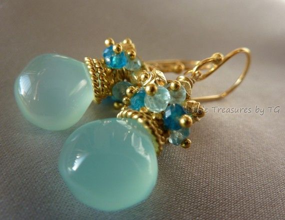 Earrings - Bead, bead cap, few small beads, bead pins... not difficult at all...