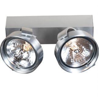 Plafondlamp Steinhauer West Point 2 lichts Staal 7185ST
