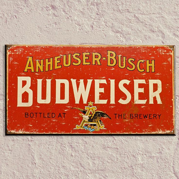 antique signs | budweiser vintage tin sign signs bar decor bar signs