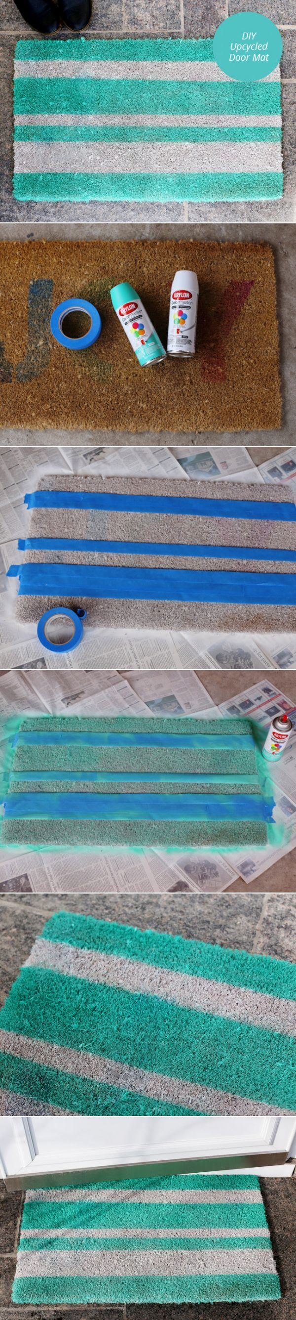We Can Spray Paint Our Crappy Front Door Mat.