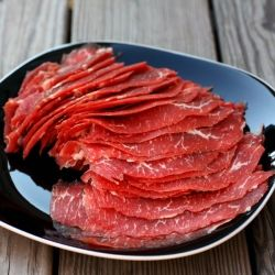 Homemade Beef Jerky by thefoodlovers: Thinly sliced flank steak makes the best beef jerky!
