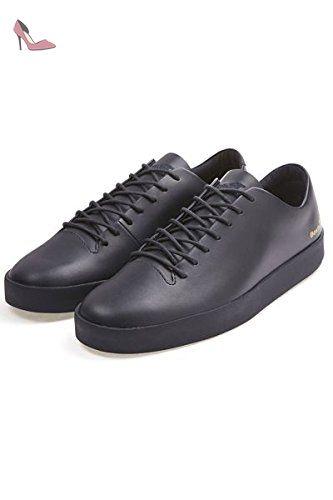 Boxfresh Keel Cat CP Lea Chaussures en cuir Homme Taille EUR 40–EUR 46en cuir Baskets - Noir - noir DvmLoTWmEM,