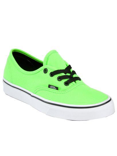 Vans Neon Authentic: Back to School Sneakers: Style: teenvogue.com