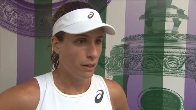 "British number one Johanna Konta says it's ""pretty special"" to be the first British woman since Jo Durie in 1984 to reach the Wimbledon quarter-finals in the singles after a 7-6 (7-3) 4-6 6-4 victory over France's Caroline Garcia. Follow live in-play clips, text and..."