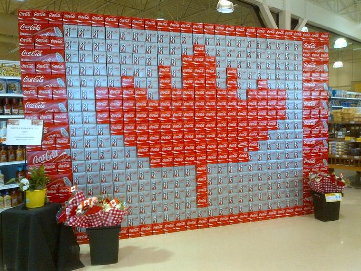 Coca-Cola boxes  Foodland  Mindemoya, Manitoulin Island  Canada Day 2012