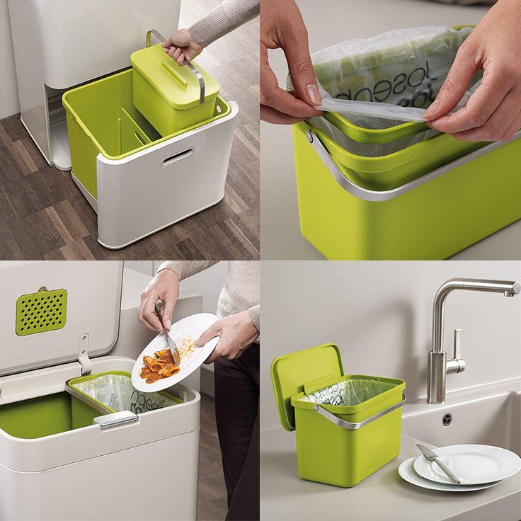 Контейнер, специально созданный для сортировки и утилизации самых разных видов мусора: пластика, стекла, пищевых отходов. Занимая столько же места, сколько обычная корзина для мусора, он гораздо более функционален.<br /> Общий объем - 50 литров. Специальный съемный контейнер для пищевых отходов (объем 4 литра). Нижнее отделение объемом 14 литров предназначено не только для мусора, но и для хранения пакетов и хозяйственных аксессуаров (можно разделить на две половинки). Основн...