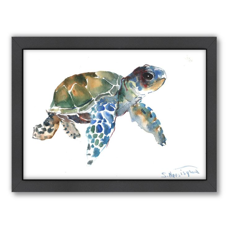 Americanflat Suren Nersisyan 'Tortoise Blue' Nautical Framed Art Print