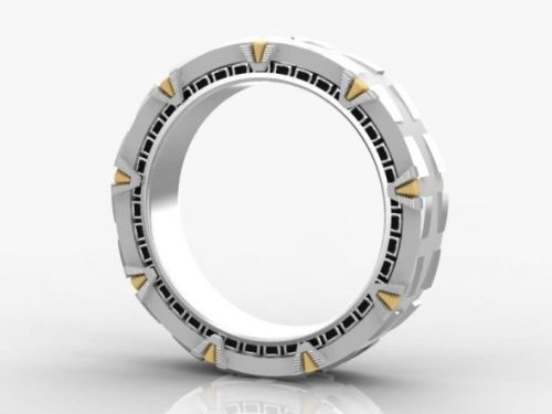 Wedding band designs stargate ring