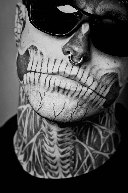 rick genest < he looks perf with the tats !!!! definitely like him better with ink. (B