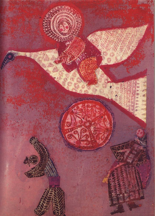 "Forgotten Illustrator: Viera Bombova, from ""Janko Gondášik A Zlatá Pani"" (The Golden Woman: Slovak fairy tales)"