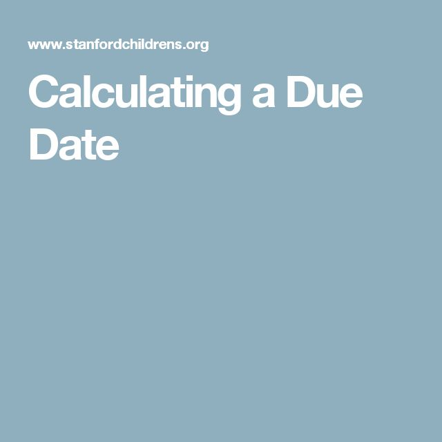 Calculating due date