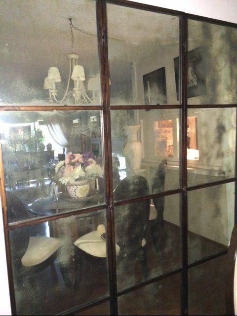 My Dining Room Seen Through Antique Mirror