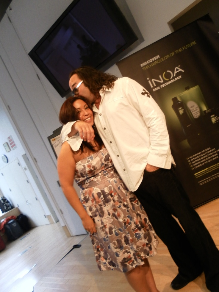 Marcus Daniels (from LA) and I working together In Manhattan, NY at the L'Oreal Soho Academy- He is an AMAZING colorist!! much love!!