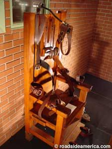 Old Sparky, the electric chair of Texas. TX prison museum