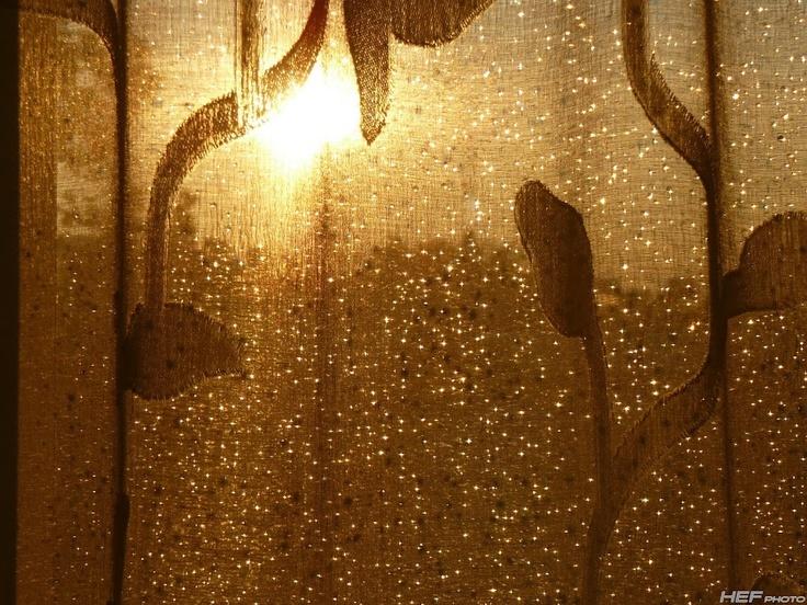 diamonds on curtain