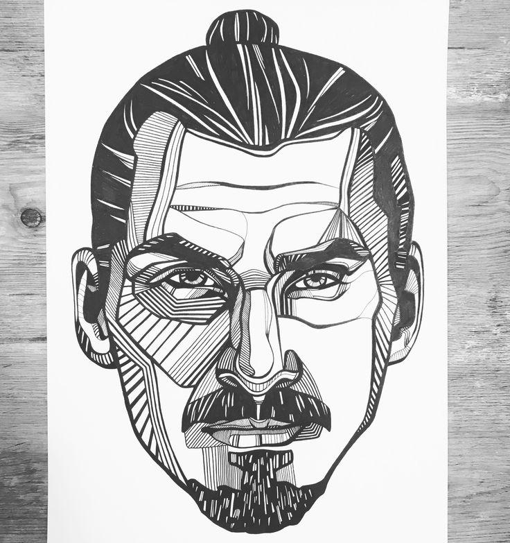 Sketch Images For Drawing: Zlatan Ibrahimovic Line Art. #zlatan #ibrahimovic