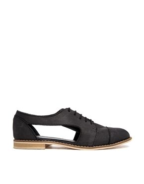 Image 1 of ASOS MANIC MONDAY Leather Lace Up Shoes