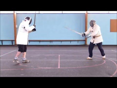 Sword play 20 German longsword sparring at the club