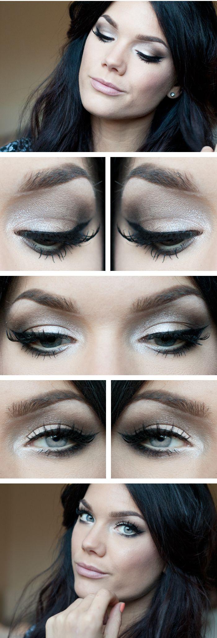 "Today's Look : ""Yesterday"" -Linda Hallberg ( a classic nude smokey eye using MAC Eye Shadow x4 into ""Bare My SouL"" and MUG eyeshadow in ""shimma shimma"""