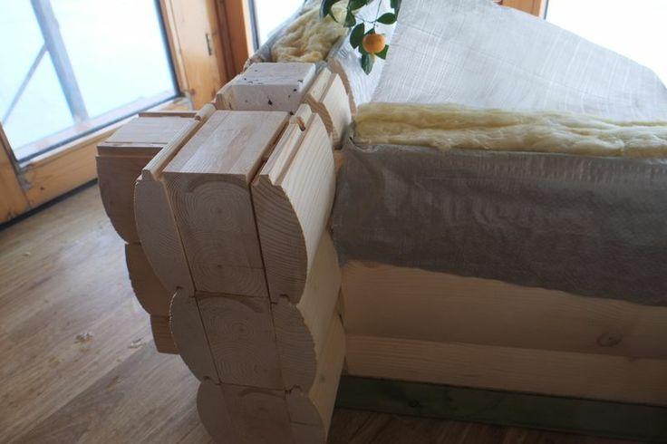 Eine neue lossung wenn Sie ein Halbrundhaus mochten - eine Doppelwand aus nordische Fichte, halbrund abgefertigt, mit Isolierung dazwischen