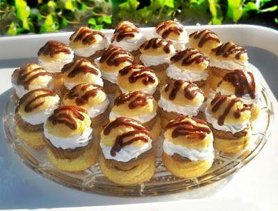 Bunătăţi din bucătăria Gicuței: Choux-uri cu cremă de ness si ciocolată