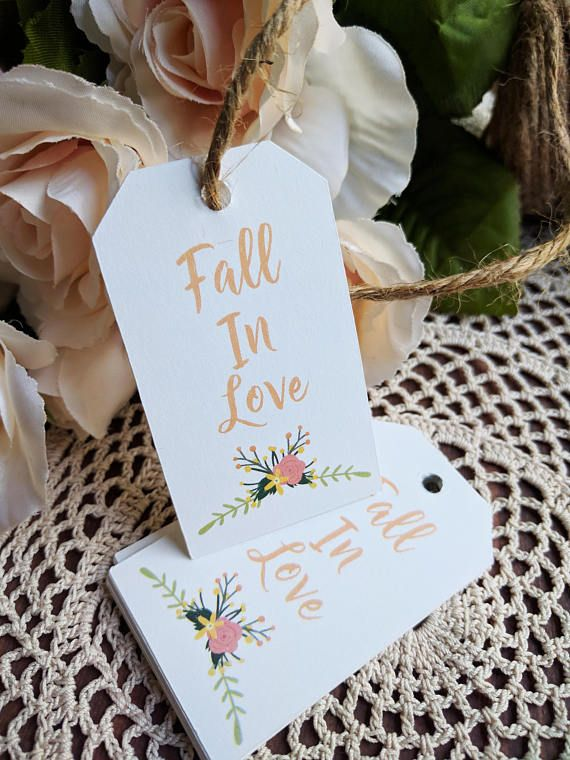 Fall In Love Wedding Favour Tags Labels Perfect for Autumn Bridal showers!  Makes for a perfect touch to your shower favors! #shower #bridalshower #bridetobe #fallinlove #tags #gift #labels #gifttags #fallinlovetags #autumn #fall #bridalshowerideas #fallbridalshowers #bridalshowers #party #decor #bridal #showering #gifts #thankyou #thankyoutags #thepaperstash